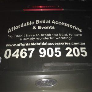 Business car signage